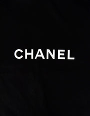 "Chanel Black 64"" Canvas Garment Bag w/ CC Hanger"