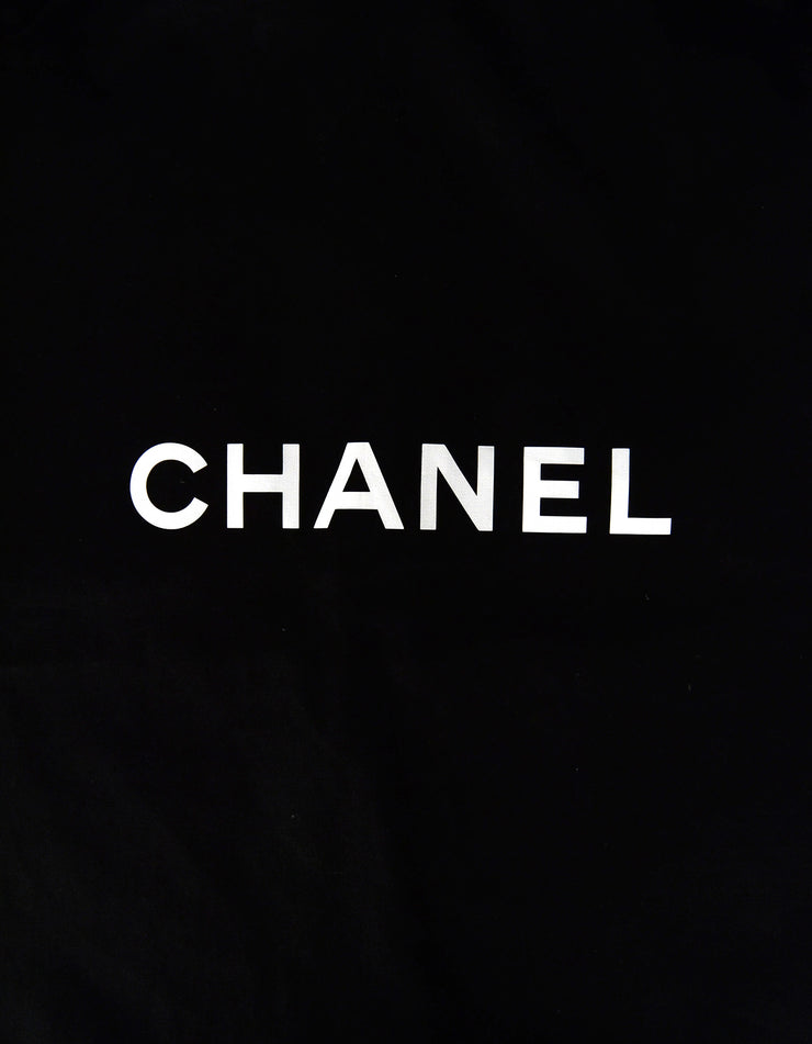 "Chanel Black 48"" Canvas Garment Bag w/ CC Hanger"