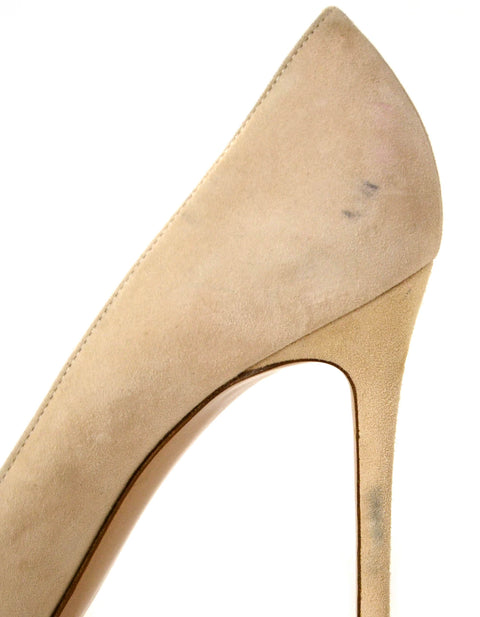 Gianvito Rossi Natural Suede Mesh Insert Pumps sz 39.5