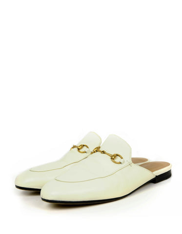 Gucci White Princetown Loafer Mules sz 39.5