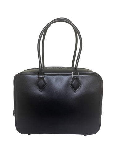 Hermes Black Box Leather 28cm Plume Bag