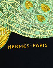 Hermes Black/Multicolor Art des Steppes 90cm Silk Scarf