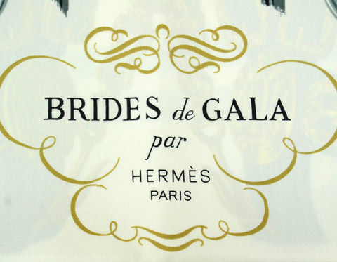Hermes Red/White Brides de Gala 90cm Silk Scarf