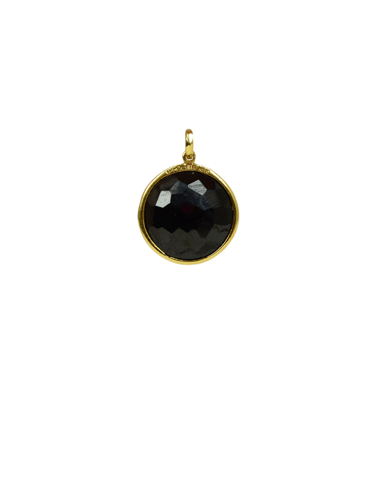 Ippolita Black Onyx Bezel Charm Pendant set in 18K Gold