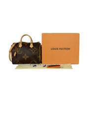 Louis Vuitton Monogram Giant Canvas Reverse Speedy Bandouliere 30 Bag