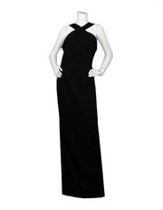 Nicholas NWT Black Ponti Cross Front Gown sz 10 rt. $525