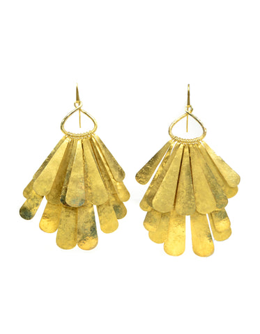 Tom Ford Gold Vermeil XL Layered Hanging Earrings