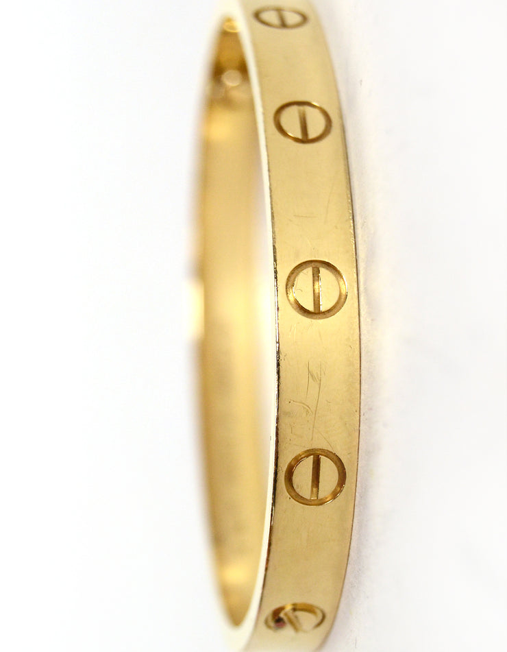 Cartier 18k Yellow Gold LOVE Bracelet sz 16