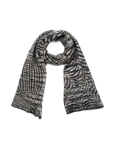 Missoni Grey/Multicolor Pattern Knit Scarf