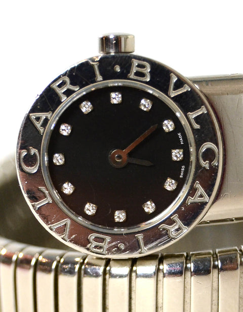 Bvlgari Stainless Steel & Diamond Serpenti Tubogas Watch BB 19 1TS