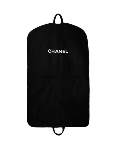 Chanel Black Canvas Garment Bag