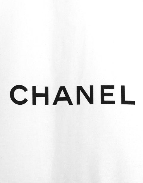 Chanel Black and White Canvas Garment Bag