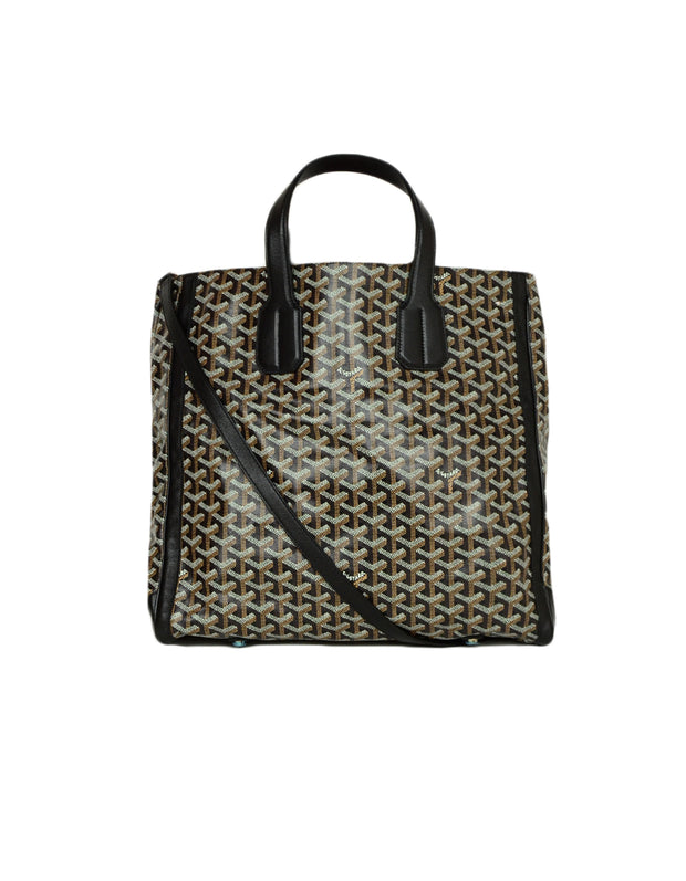 Goyard Black Leather Goyardine Voltaire Tote Bag w Detachable Strap