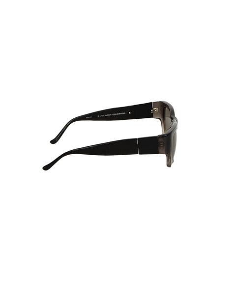 Linda Farrow x The Row Men's Black/Grey Ombre Square Tinted Sunglasses