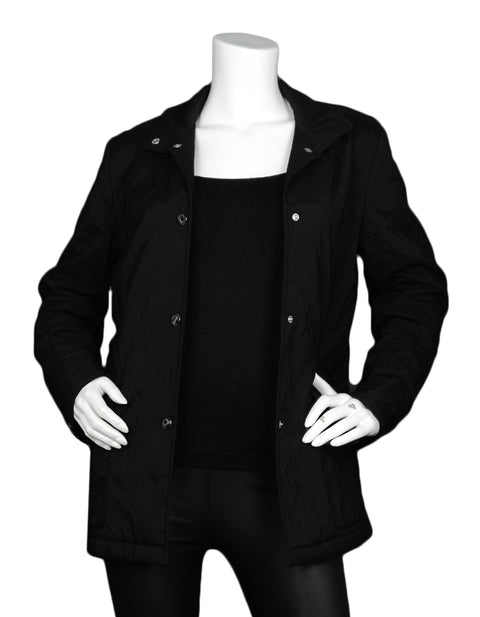 Loro Piana Black Quilted Jacket sz IT42/ US4-6