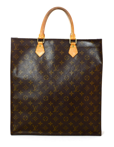 Louis Vuitton Monogram Sac Plat Tote Bag