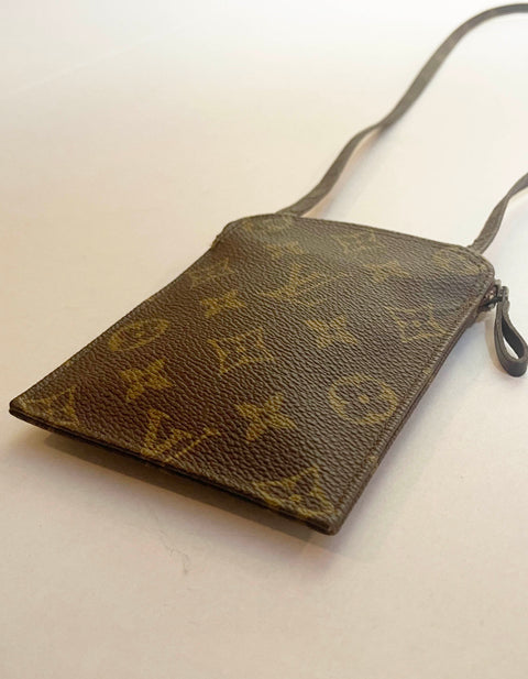 Louis Vuitton Monogram Secret Passport Pouch Necklace