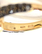Pomellato 18K Rose Gold Onyx & Black Diamond Capri Ring sz 7