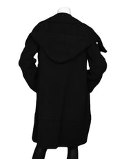 Stella McCartney Black Hooded Coat sz IT 42