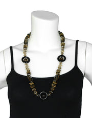 "Stephen Dweck Smokey Topaz 30"" Necklace w/ Black Onyx Accents"