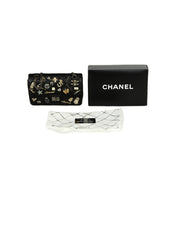 Chanel Black Calfskin Quilted 2.55 Lucky Charms 225 Reissue Double Flap Bag