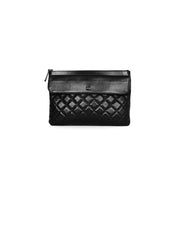 Chanel SO Black Lambskin Quilted Pouch