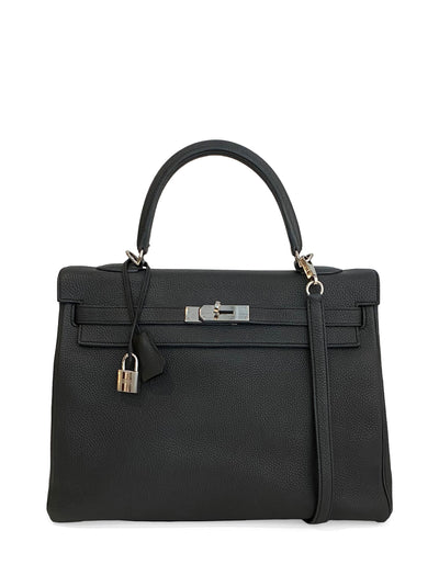 Hermes 35cm Black Togo Leather Kelly Bag PHW
