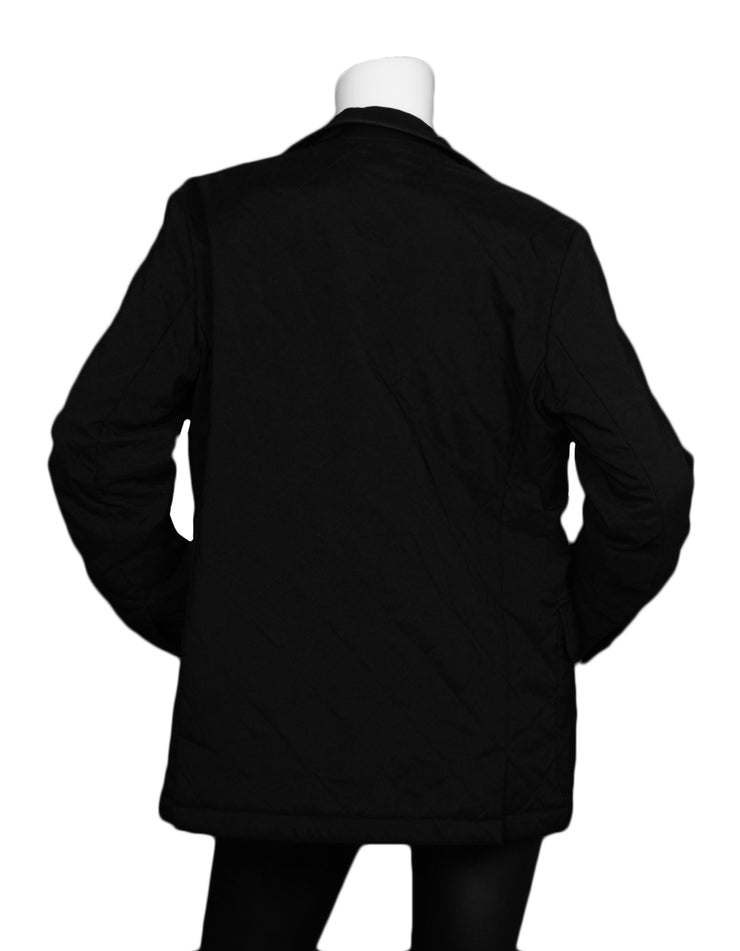 Loro Piana Black Quilted Jacket sz 42