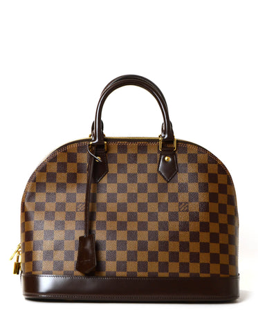 Louis Vuitton Damier Ebene Alma MM Bag