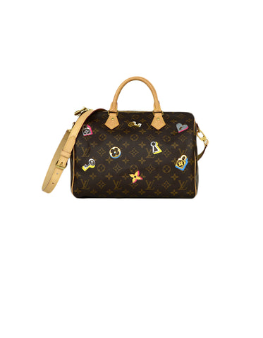 Louis Vuitton Monogram Love Lock Speedy Bandouliere 30