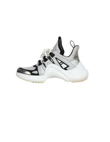 Louis Vuitton 2018 Silver/Black Archlight Reflective Sneakers sz 39
