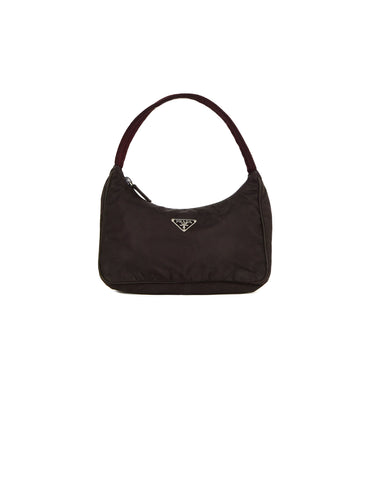 Prada Vintage Brown Nylon Mini Handbag