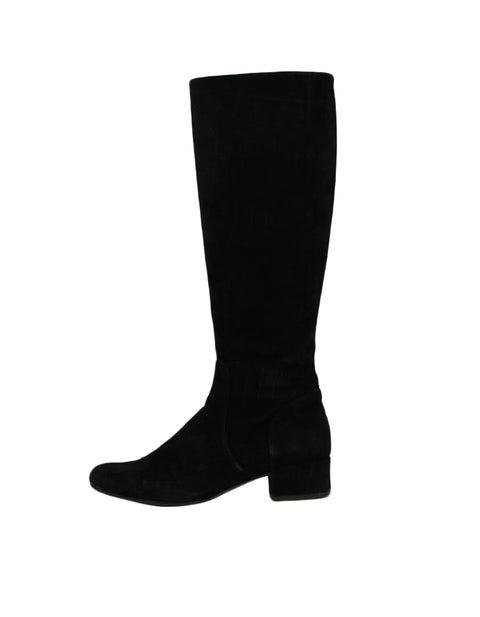 Saint Laurent Black Suede Boot w/ Side Zip sz 37.5