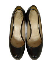 Yves Saint Laurent Black Leather Tribtoo Pumps sz 36
