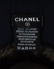 Chanel '17 Orylag Rabbit Fur CC Travel Neck Pillow W/ DB