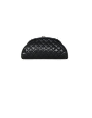 Chanel Black Lambskin Leather Quilted Timeless Clutch Bag