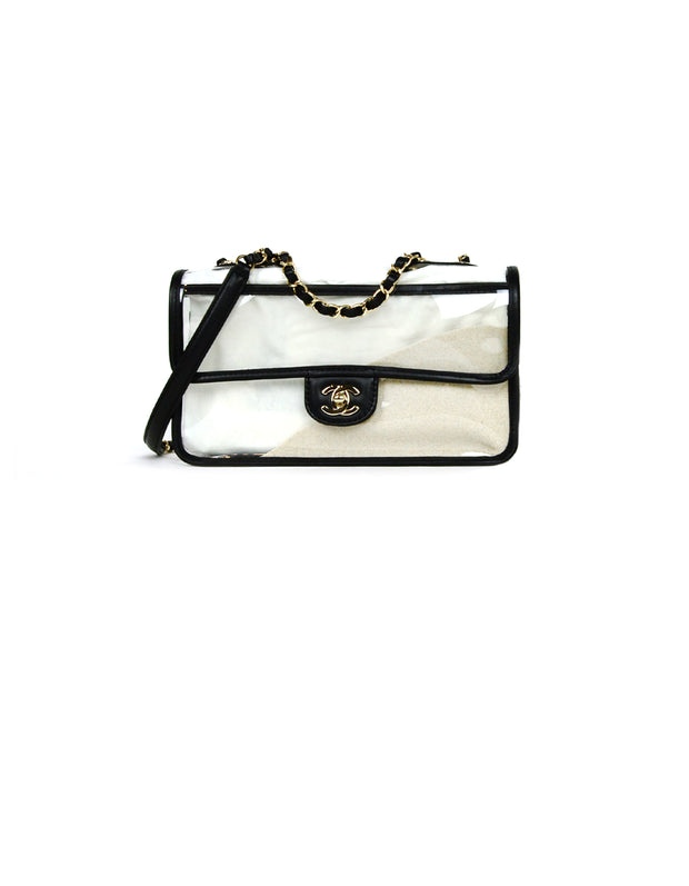 Chanel NWT PVC/ Lambskin Medium Coco Sand Flap Bag