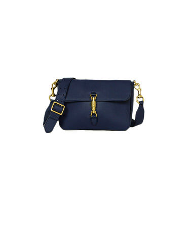 Gucci Navy Soft Calfskin Small Jackie Shoulder Crossbody Bag