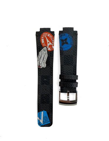 Louis Vuitton Damier Graphite World Tour Watch Strap