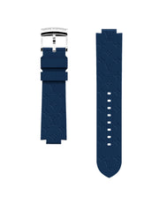 Louis Vuitton Navy Blue Rubber Monogram Tambour Watch Strap