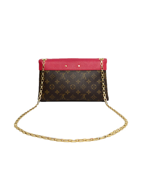 Louis Vuitton Monogram/Leather Pallas Chain Flap Bag
