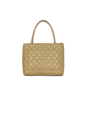 Chanel Beige Caviar Leather Medallion Tote Bag
