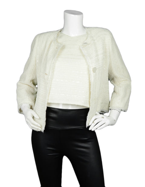 Chanel Cream Boucle Jacket and Shell sz 40