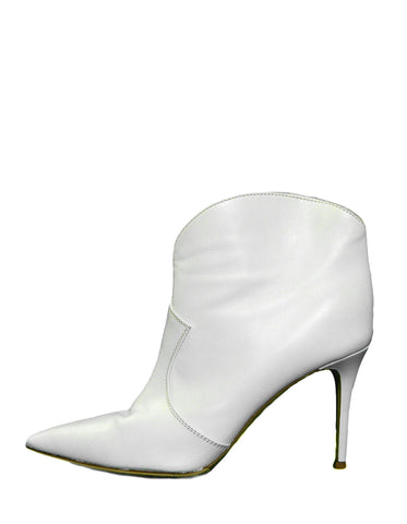 Gianvito Rossi White Leather Mable 85 Ankle Boots sz 39