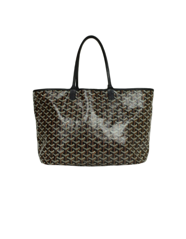 Goyard Black Canvas Goyardine Saint Louis PM Tote Bag w/ Insert