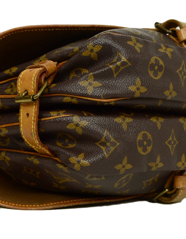 Louis Vuitton Monogram Canvas Saumur 30 Double Saddle Messenger Bag