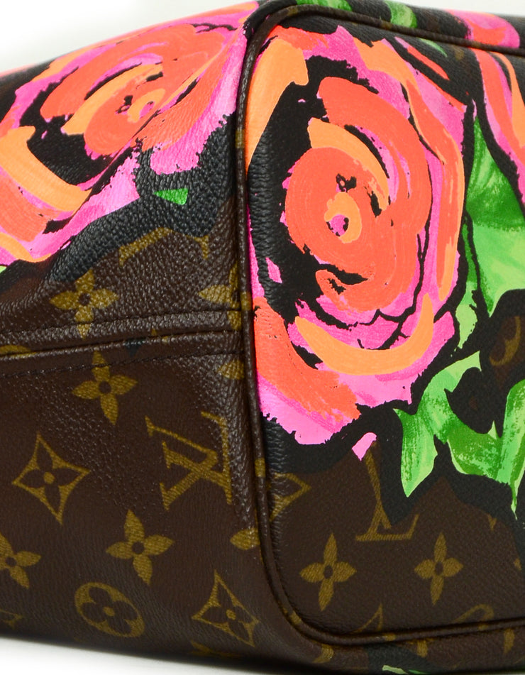 Louis Vuitton Stephen Sprouse Monogram Roses Neverfull MM Tote Bag