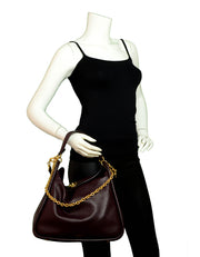 Mulberry Oxblood Small Classic Grain Calfskin Leighton Shoulder Bag