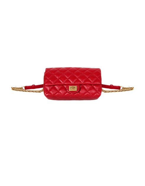 3b664f68d4a8 Chanel 2018 Red Quilted Calfskin Leather Reissue 2.55 Belt Bag – ASC Resale