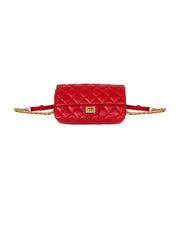 Chanel 2018 Red Quilted Calfskin Leather Reissue 2.55 Belt Bag